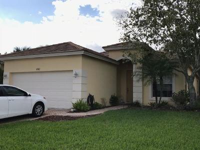 Port Saint Lucie Single Family Home For Sale: 441 SW Talquin Lane