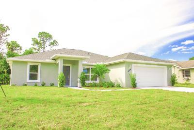 Port Saint Lucie Single Family Home For Sale: 2026 SW Castinet Lane