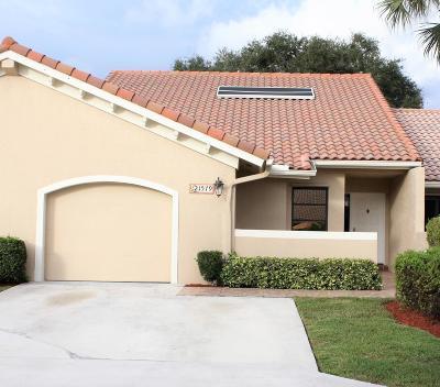 Boca Raton Single Family Home Contingent: 21579 Coronado Avenue