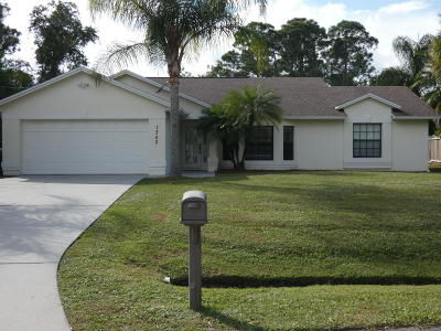Port Saint Lucie Single Family Home For Sale: 1350 SE Preston Lane