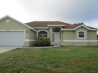 Port Saint Lucie Single Family Home For Sale: 2258 SW Import Drive