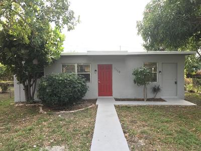 West Palm Beach Single Family Home For Sale: 1116 19th Street