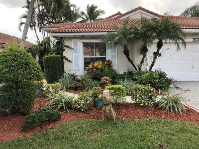 Lake Worth Single Family Home For Sale: 6300 Grand Cypress Circle