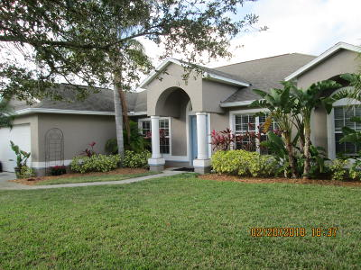 Fort Pierce Single Family Home For Sale: 2813 S Serenity Circle