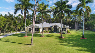 Jupiter Single Family Home For Sale: 12819 Old Indiantown Road
