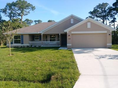 St Lucie County Single Family Home For Sale: 142 SW Crescent Avenue