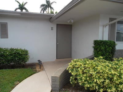 West Palm Beach Single Family Home For Sale: 2885 Crosley Drive E #E