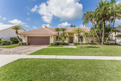 Boca Raton Single Family Home For Sale: 10916 Boca Woods Lane