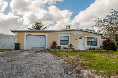 Lake Worth Single Family Home For Sale: 3663 Almar Rd Road