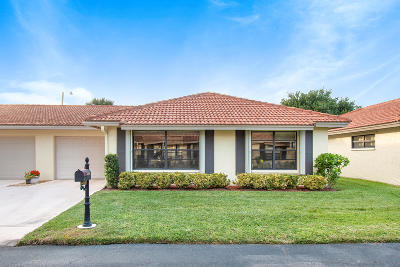 Boynton Beach Single Family Home For Sale: 4450 Pandanus Tree Road #B