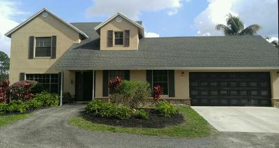 Loxahatchee Groves Single Family Home For Sale: 1350 C Road