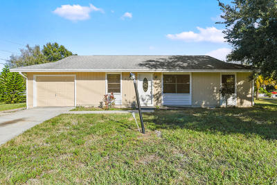 St Lucie County Single Family Home For Sale: 6408 Deleon Avenue