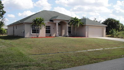St Lucie County Single Family Home For Sale: 4161 SW Tumble Street