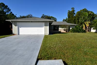 Port Saint Lucie Single Family Home For Sale: 1150 SW Ithaca Street