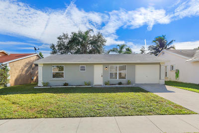 Lake Worth Single Family Home For Sale: 5424 Edgerton Avenue