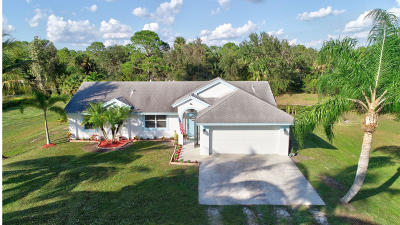 Loxahatchee Single Family Home For Sale: 16857 90th Street