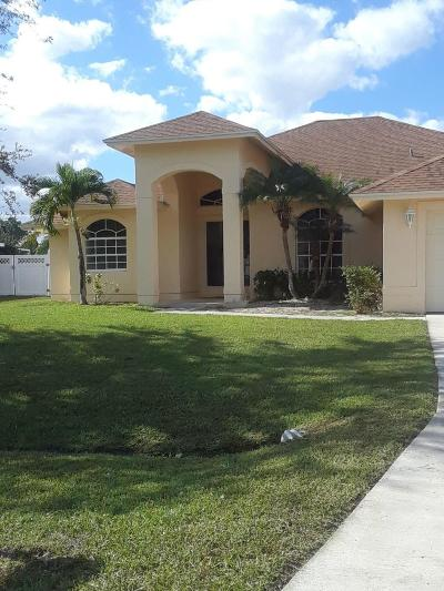 Port Saint Lucie, Saint Lucie West Single Family Home For Sale: 5526 NW Cordrey Street