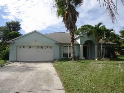 Port Saint Lucie Single Family Home For Sale: 1834 SW Gemini Lane