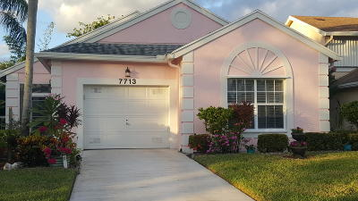 Delray Beach Single Family Home Contingent: 7713 Mansfield Hollow Road