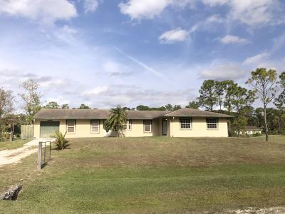Loxahatchee Single Family Home For Sale: 15667 64th Place