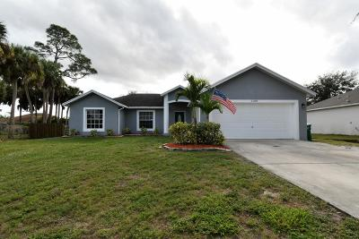 Port Saint Lucie Single Family Home Contingent: 1108 SW Abbey Avenue