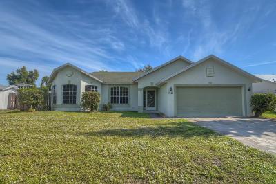 Port Saint Lucie Single Family Home For Sale: 1741 SE Flintlock Road