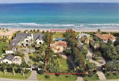 Highland Beach Single Family Home For Sale: 2475 S Ocean Boulevard