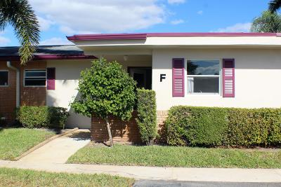 West Palm Beach Single Family Home For Sale: 2661 Barkley Drive W #F