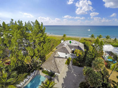 Hobe Sound Single Family Home For Sale: 57 Beach Road