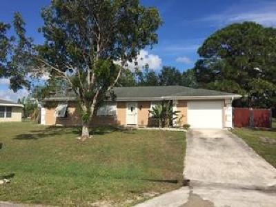 Port Saint Lucie Single Family Home For Sale: 410 SW Kentwood Road