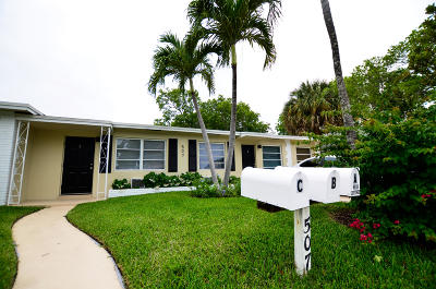 Lake Worth Multi Family Home For Sale: 507 S L Street