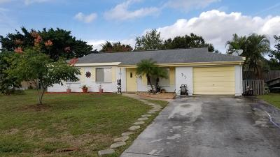 Port Saint Lucie Single Family Home For Sale: 237 SW Kentwood Road