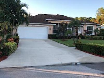 Port Saint Lucie Single Family Home For Sale: 1618 SW Andalusia Road
