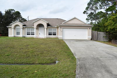 Port Saint Lucie Single Family Home For Sale: 4234 SW Kazan Street