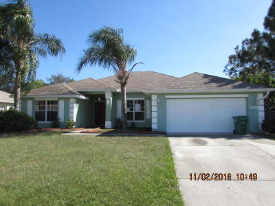 Port Saint Lucie Single Family Home For Sale: 5769 NW Cleburn Drive