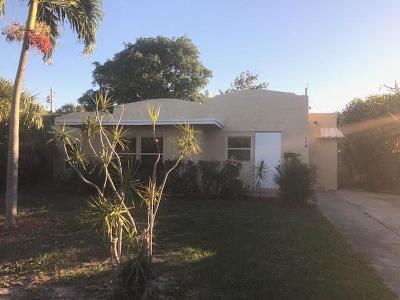 West Palm Beach Single Family Home For Sale: 508 Palmetto Street