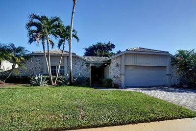 Boca Raton Single Family Home For Sale: 19820 Sedgefield Terrace