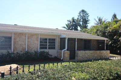 Lake Worth Single Family Home For Sale: 1810 Crest Drive