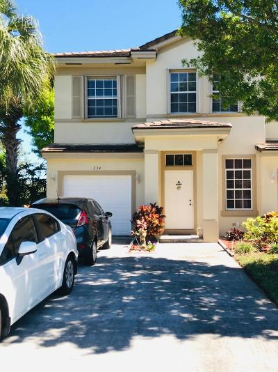 Boynton Beach Townhouse For Sale: 334 Spruce Street