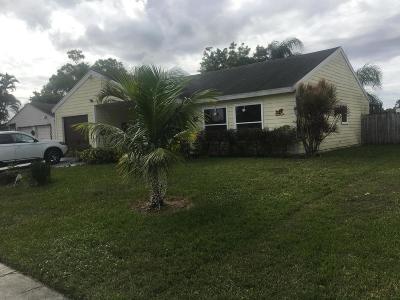 Lake Worth Single Family Home For Sale: 7810 Ridgewood Drive