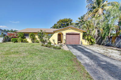 Boca Raton FL Single Family Home For Sale: $390,000