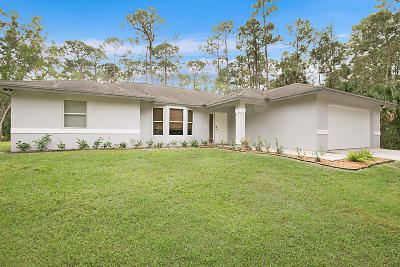 Loxahatchee Groves Single Family Home For Sale: 14666 Gruber Lane