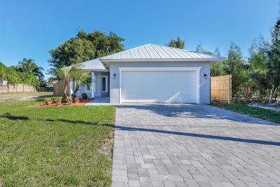 Jupiter Single Family Home For Sale: 17694 Carver Avenue