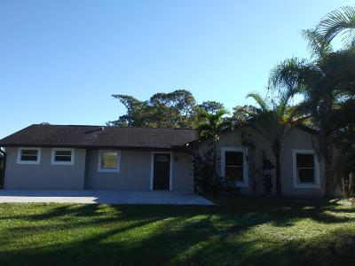 Jupiter Single Family Home For Sale: 11559 Jb Lane