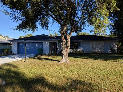 Fort Pierce Single Family Home Contingent: 7502 Kenwood Road