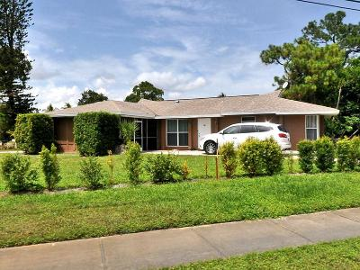 Fort Pierce Single Family Home For Sale: 401 E Prima Vista Boulevard