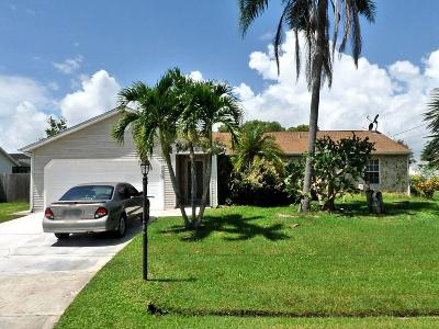 Port Saint Lucie FL Single Family Home For Sale: $215,000