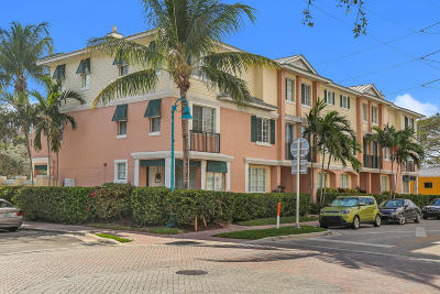 Delray Beach Townhouse For Sale: 240 NE 2nd Street #6-A