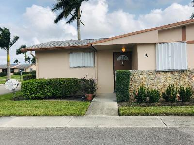 West Palm Beach Single Family Home For Sale: 2739 Dudley Drive W #A