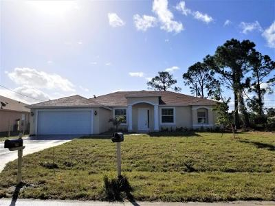 Port Saint Lucie Single Family Home For Sale: 1862 SW Fears Avenue